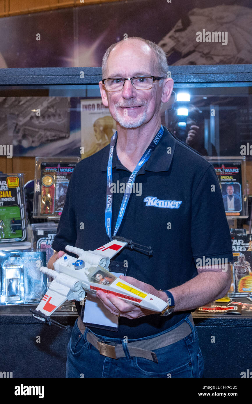 FUERTH, Germany - September 22nd 2018: Jim Swearingen (Toy Designer for Kenner - The Toys That Made Us tv series) at Noris Force Con 5, a three day st - Stock Image