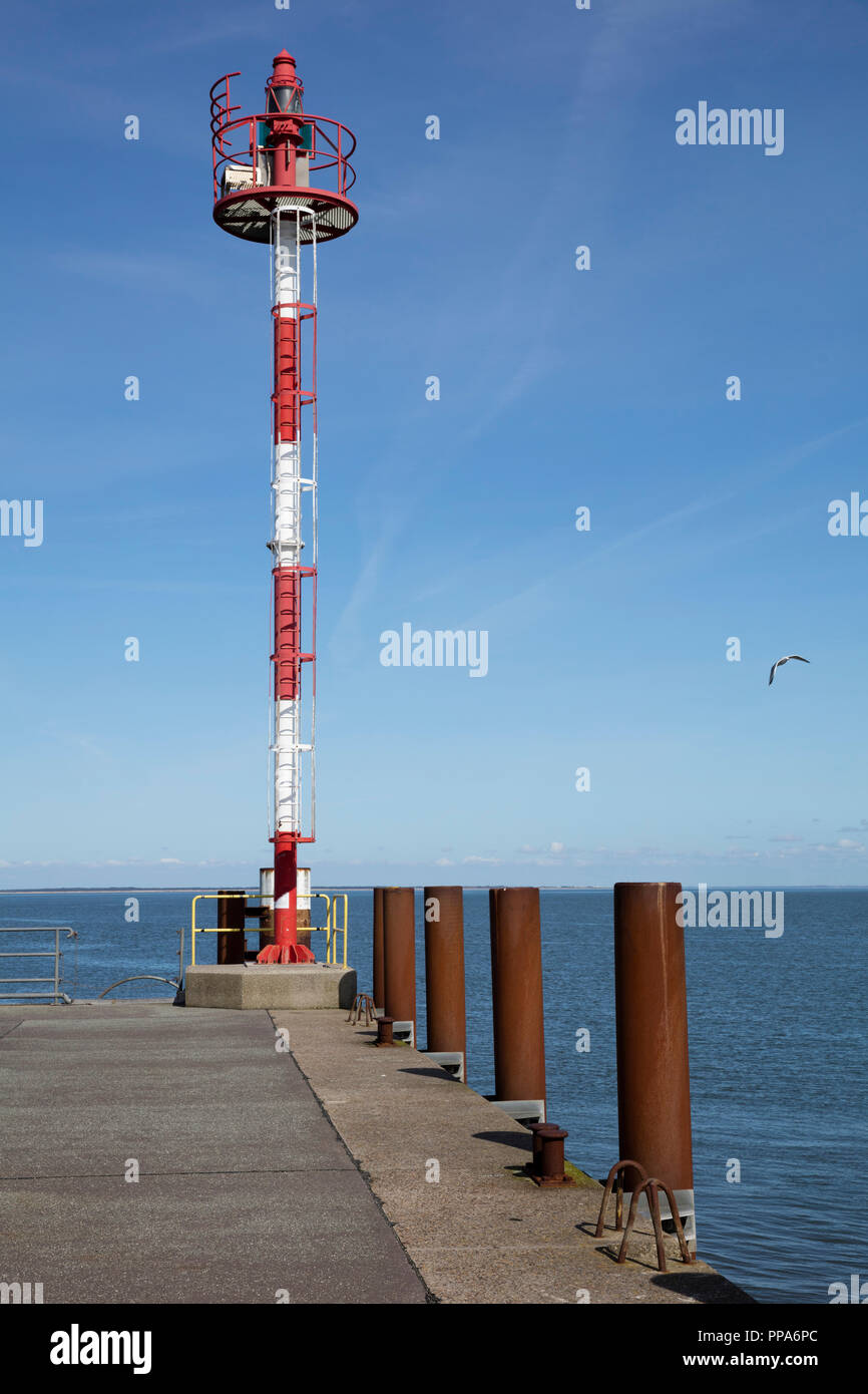 Sea mark at the harbor of List, Sylt, North Frisian Island, North Frisia, Schleswig-Holstein, Germany, Europe Stock Photo