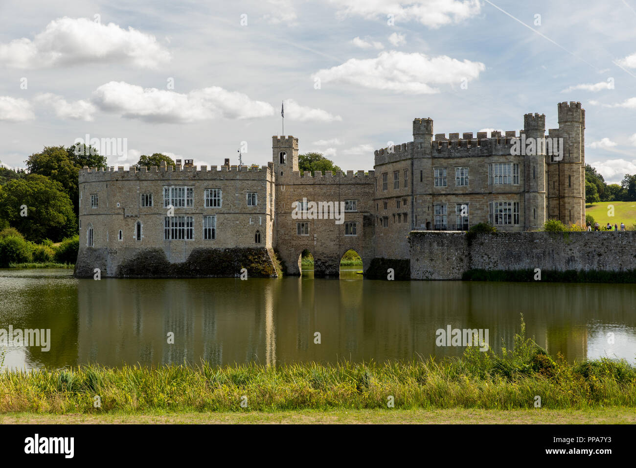 Rundgang durch Leeds Castle - Stock Image