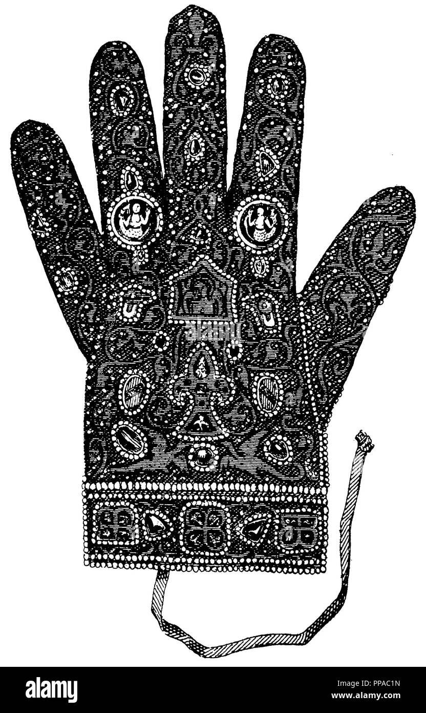 Roman Emperor of the German Nation: Imperial Glove, Stock Photo