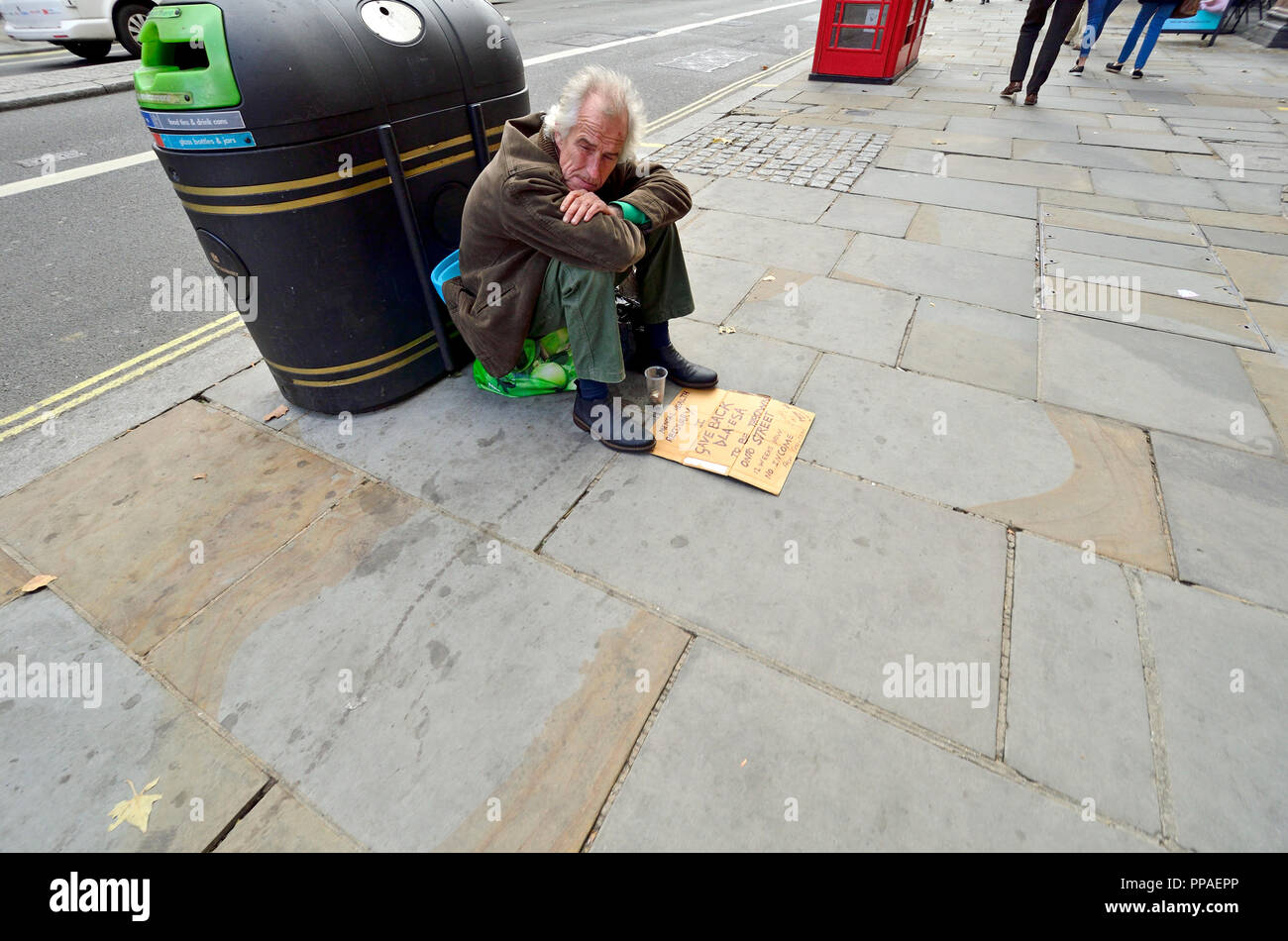 Begging On The Street ...