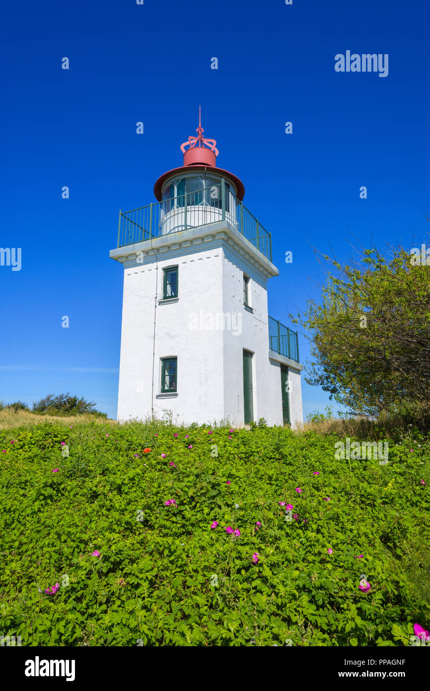 Lighthouse, Hundested, Halsnaes, Zealand, Denmark - Stock Image