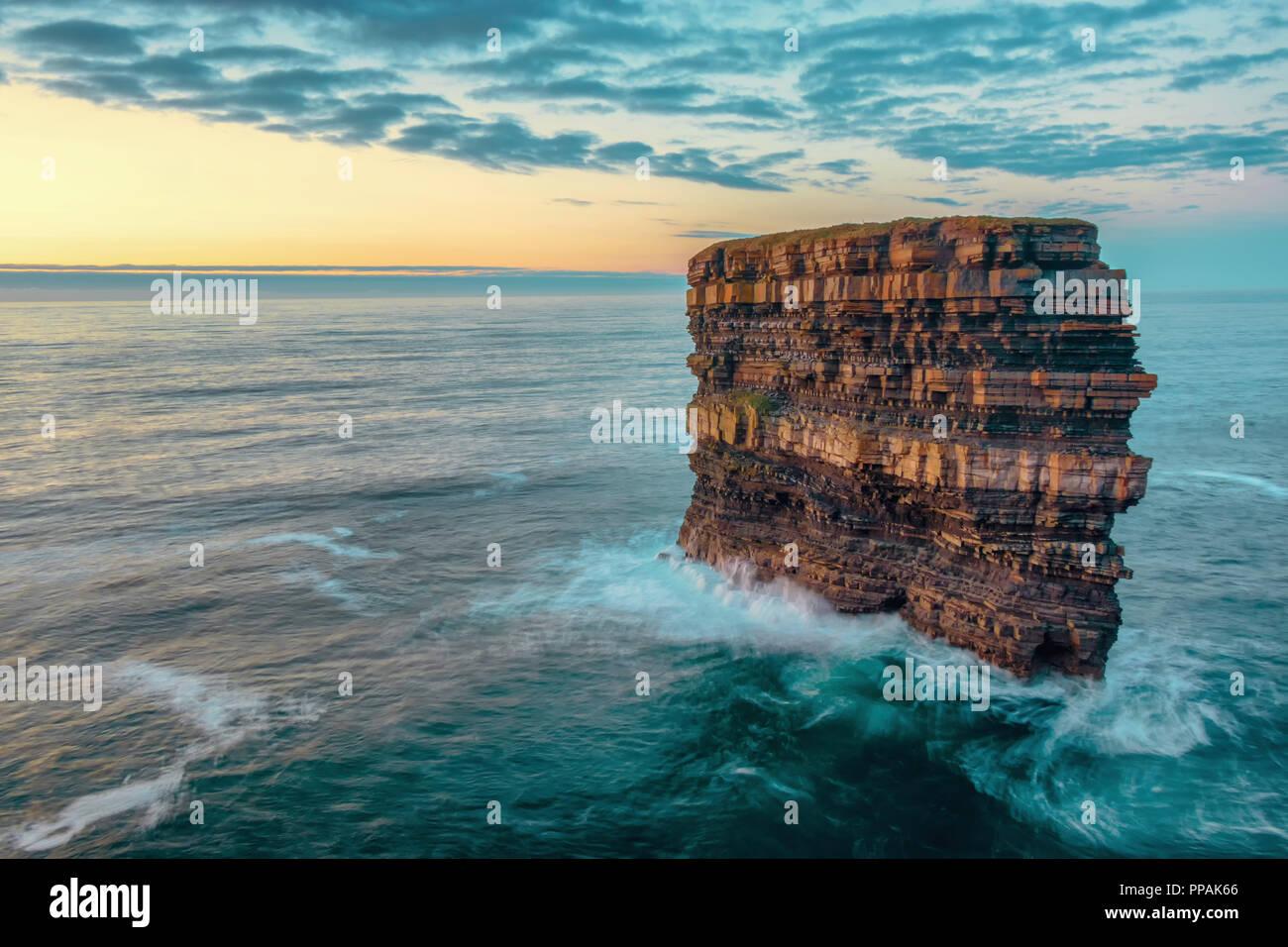 Downpatrick Head, Ballycastle, Co. Mayo, Ireland - Stock Image