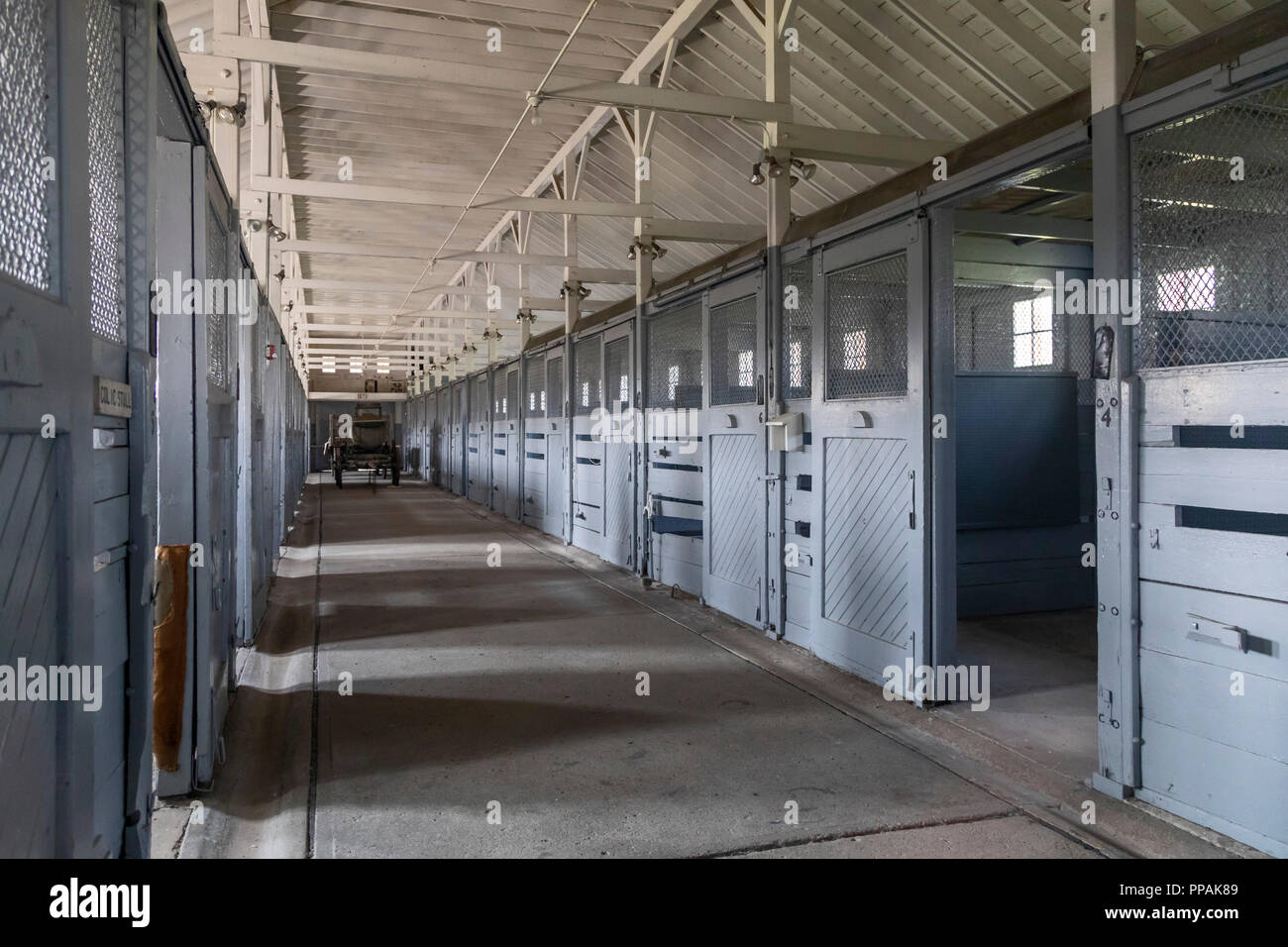 Crawford, Nebraska - The Veterinary Hospital at Fort Robinson State Park. Fort Robinson is a former U.S. Army outpost which played a major role in the - Stock Image