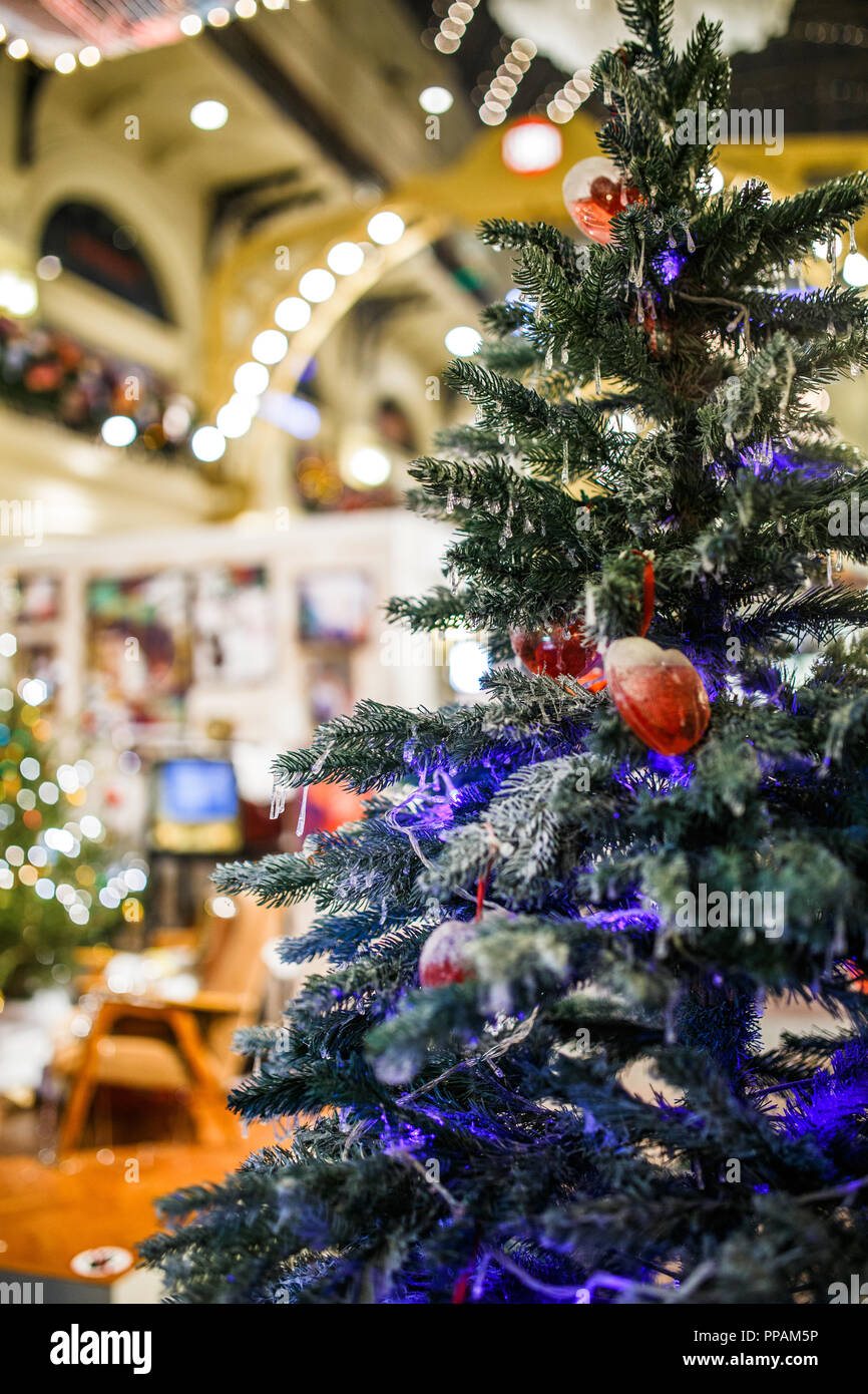 Photo Of Decorated Christmas Tree In Store Stock Photo 220282210