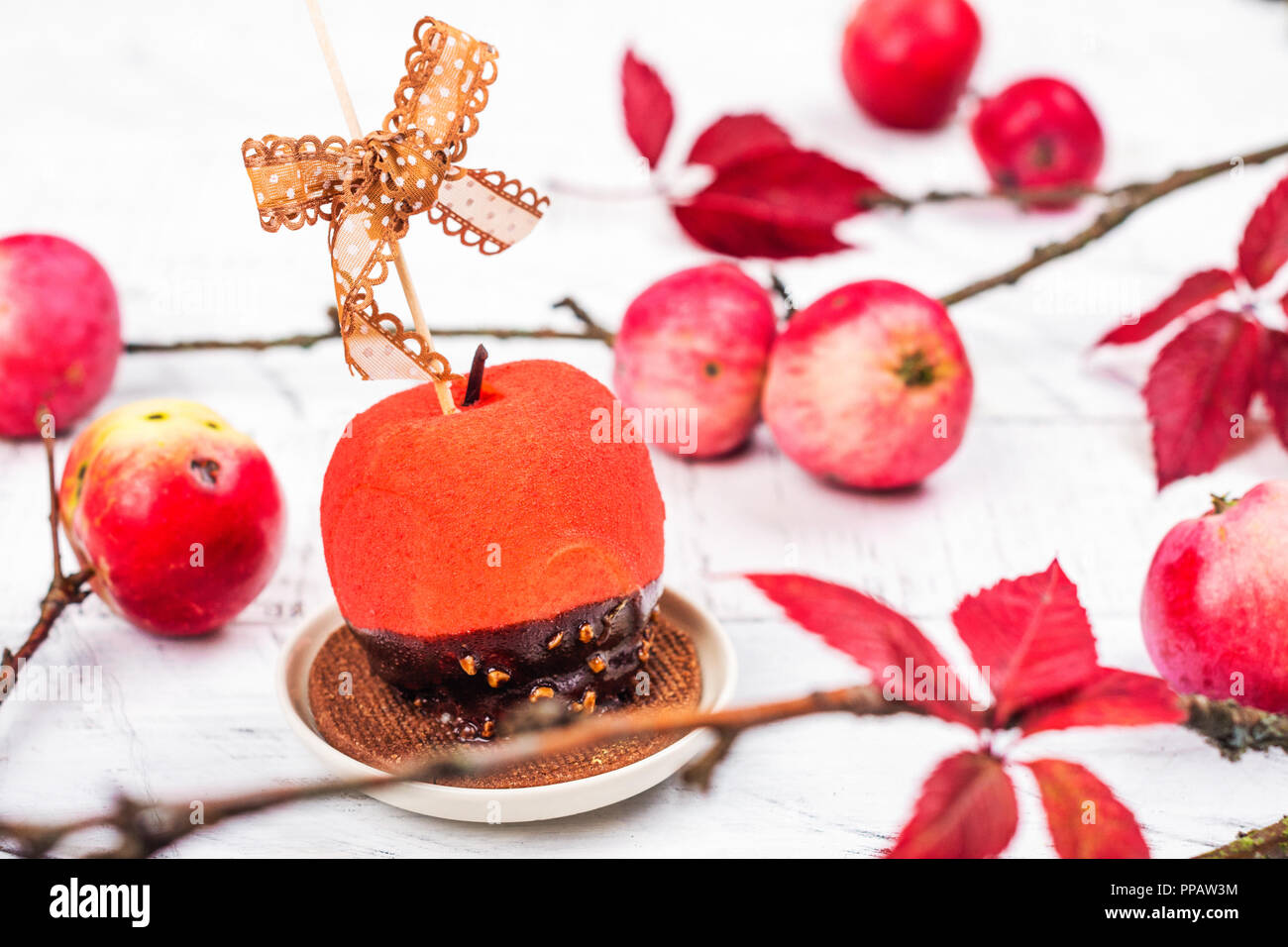 Toffy Stock Photos Images Alamy Petite Cupcakes Aumy Outer Halloween Candy Apple Dessert Image