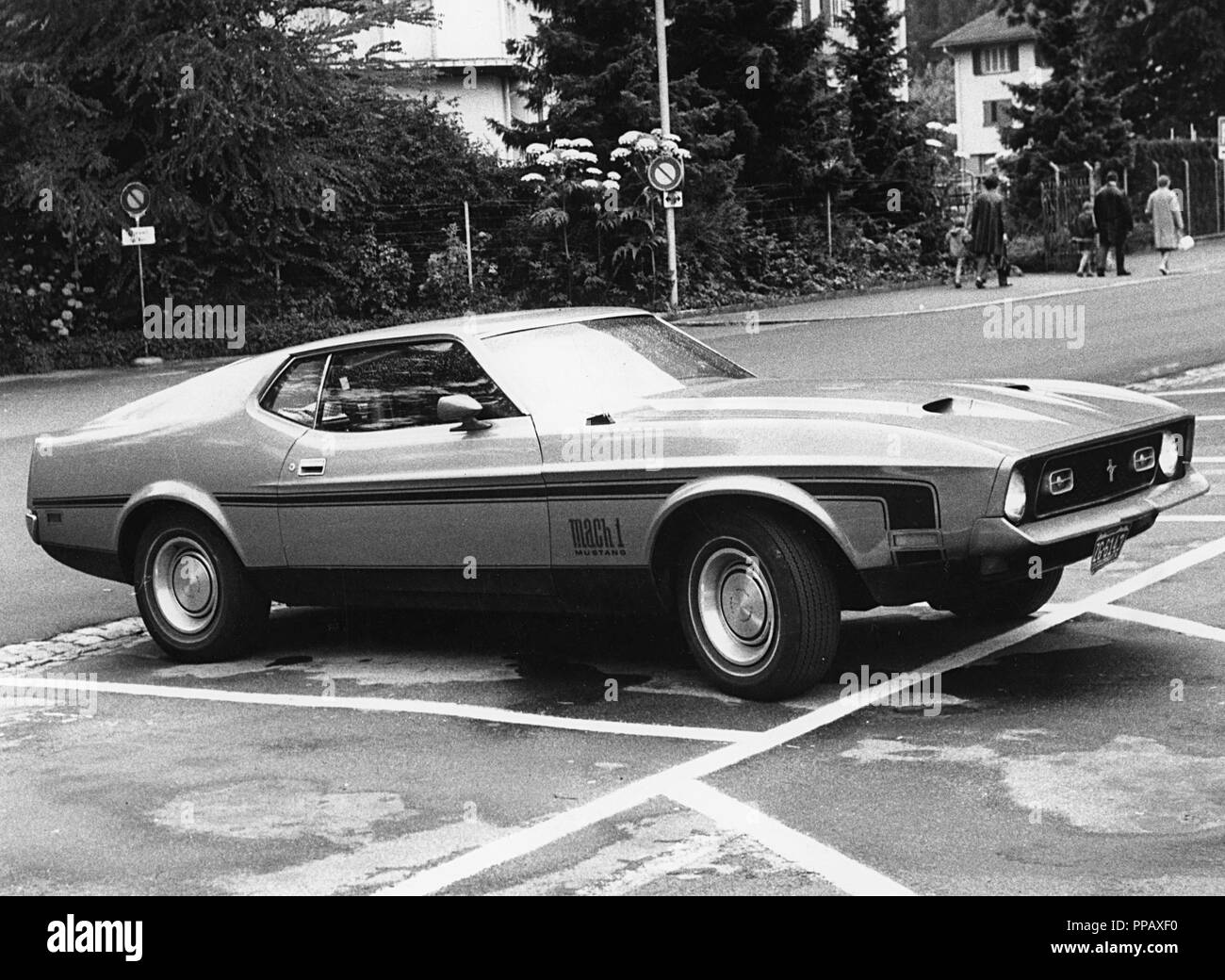 1972 ford mustang mach 1 stock image