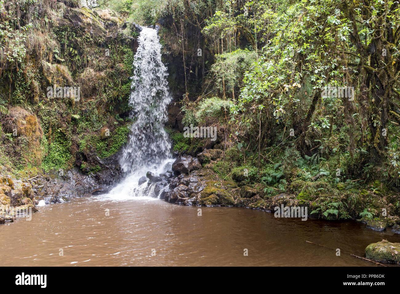 Waterfall, Bale Mountains, Ethiopia - Stock Image