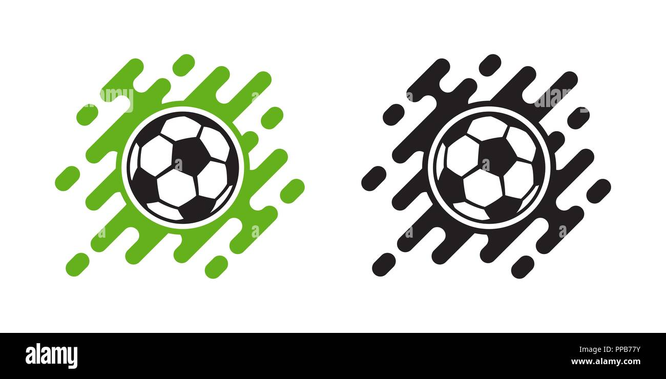 Soccer ball vector icon isolated on white background. Football ball icon - Stock Vector