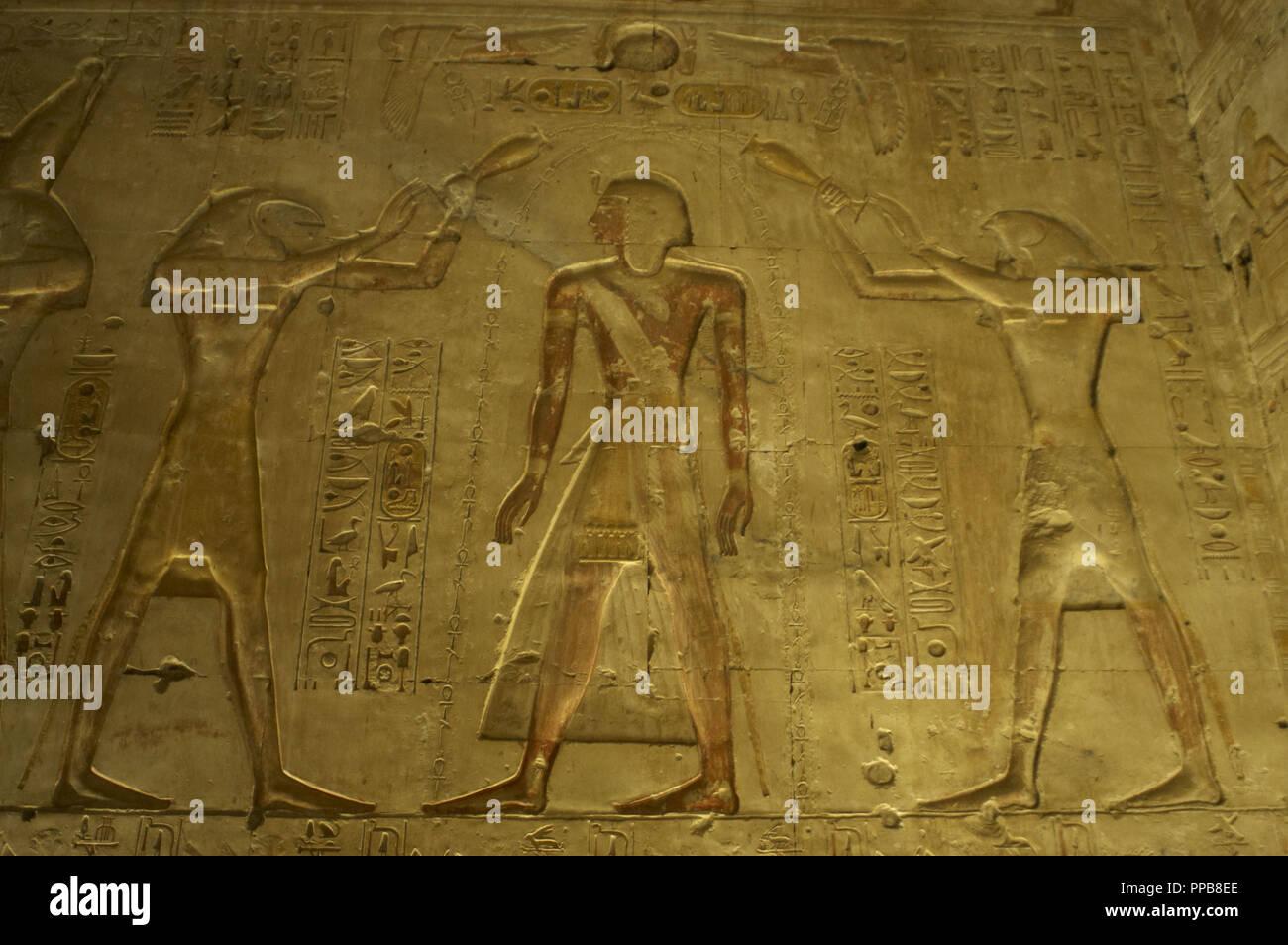 Egypt  Abydos  Temple of Seti I  New Kingdom  19th Dynasty