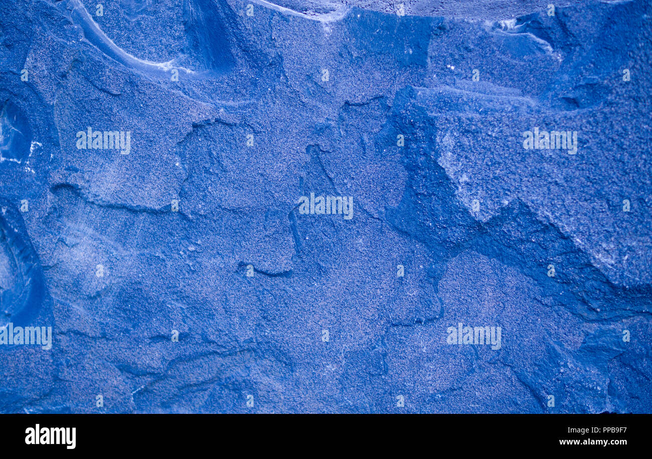 blue granite stone tiled background. geological, texture. - Stock Image