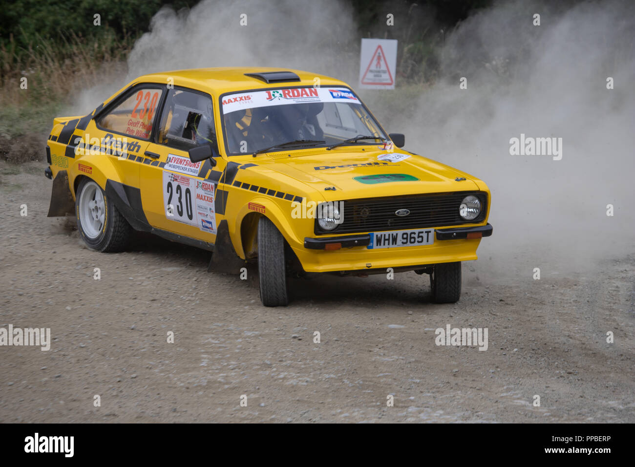 Ford Escort Rally - Stock Image