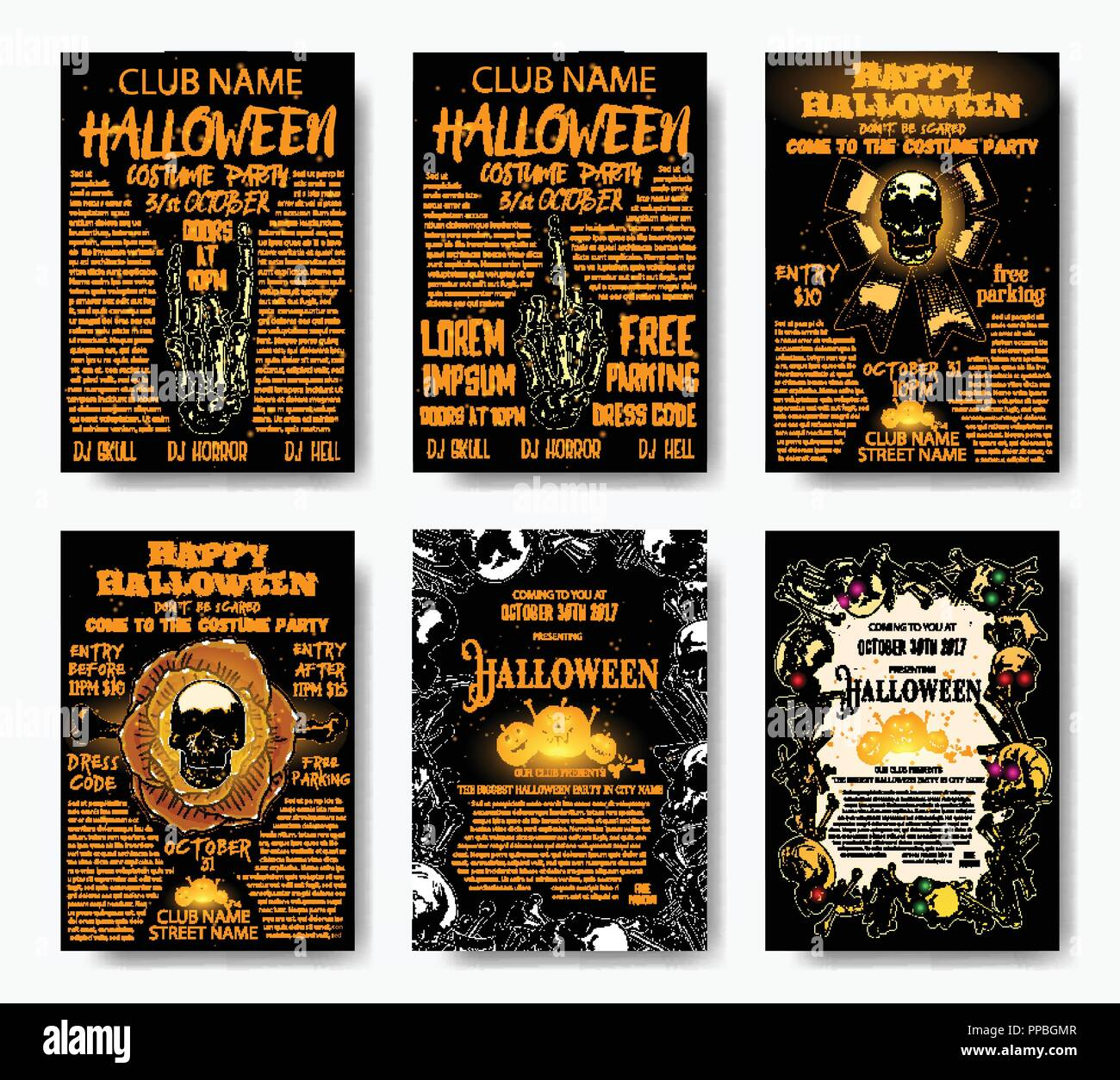 halloween costume party flyer royalty free costume party clip art