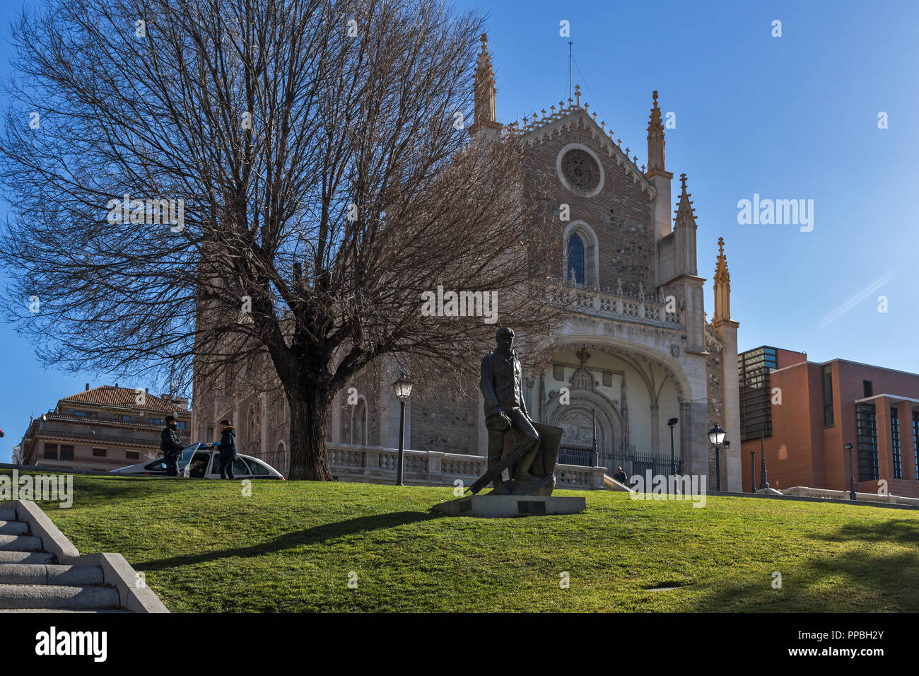 MADRID, SPAIN - JANUARY 22, 2018:  Amazing view of San Jeronimo el Rea church in City of Madrid, Spain - Stock Image