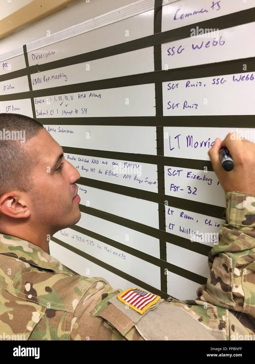 Sgt Vincent Torres Training Room Non Commissioned Officer Phoenix Troop Field Artillery Squadron 2d Cavalry Regiment Updates The Task Tracker In