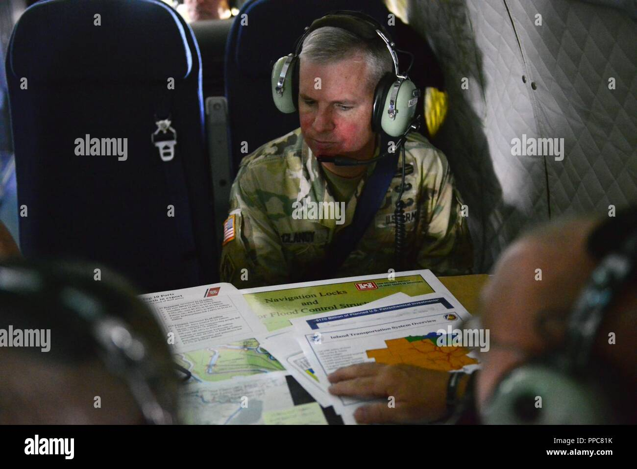 Us Army Corps Of Engineers Colonel Michael Clancy Reviews Maps And - Us-corps-of-engineers-maps
