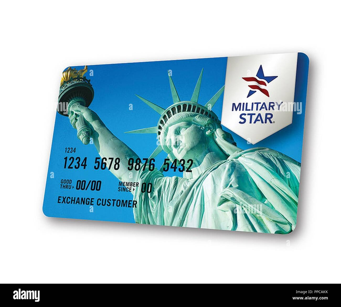 In 2017, the Exchange Credit Program paid cardholders $27.5 million in personal dividends through rewards cards shoppers earned by using a MILITARY STAR card at exchanges in-store and online, commissaries and Armed Forces Recreation Centers. - Stock Image