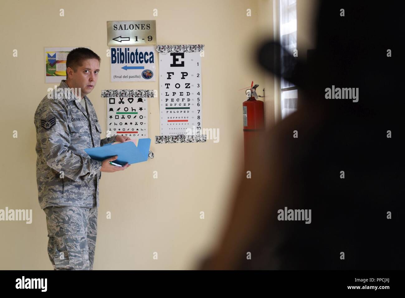 Staff Sgt  Bryan Chenoweth, 183rd Medical Group optometry technician