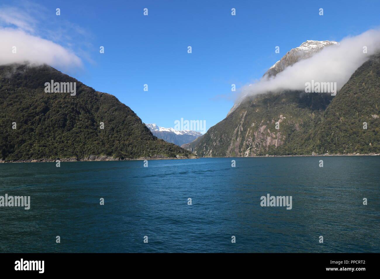 Fjordland New Zealand , Milford Sound - Stock Image