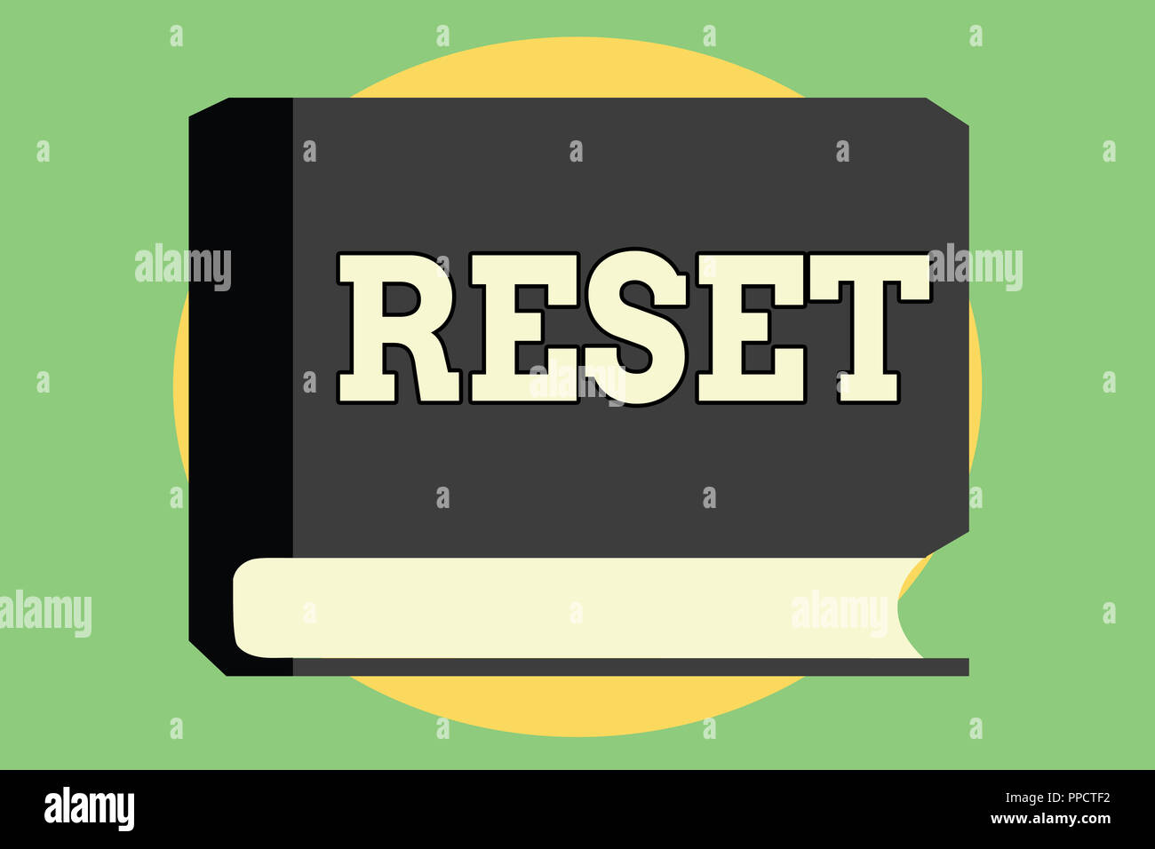 Handwriting text Reset  Concept meaning cause device return