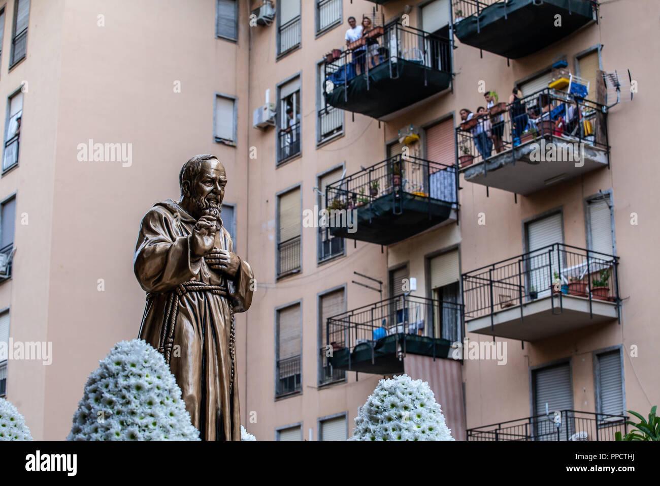 Palermo, Italy. 23rd Sep, 2018. San Pio procession, San Pio ...