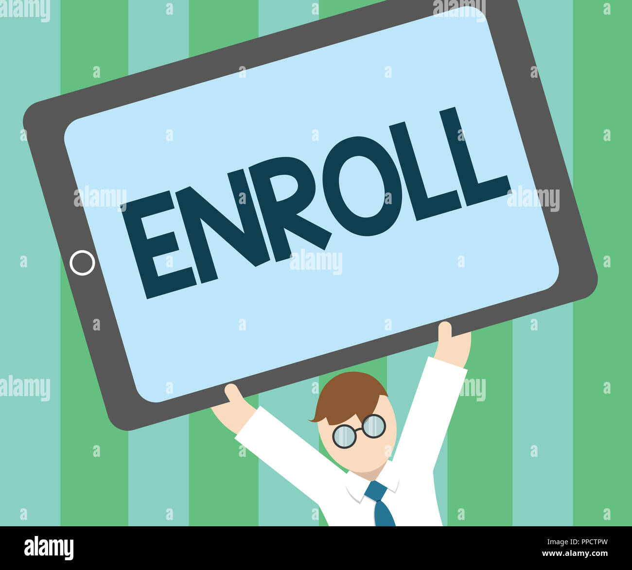 word writing text enroll business concept for officially register