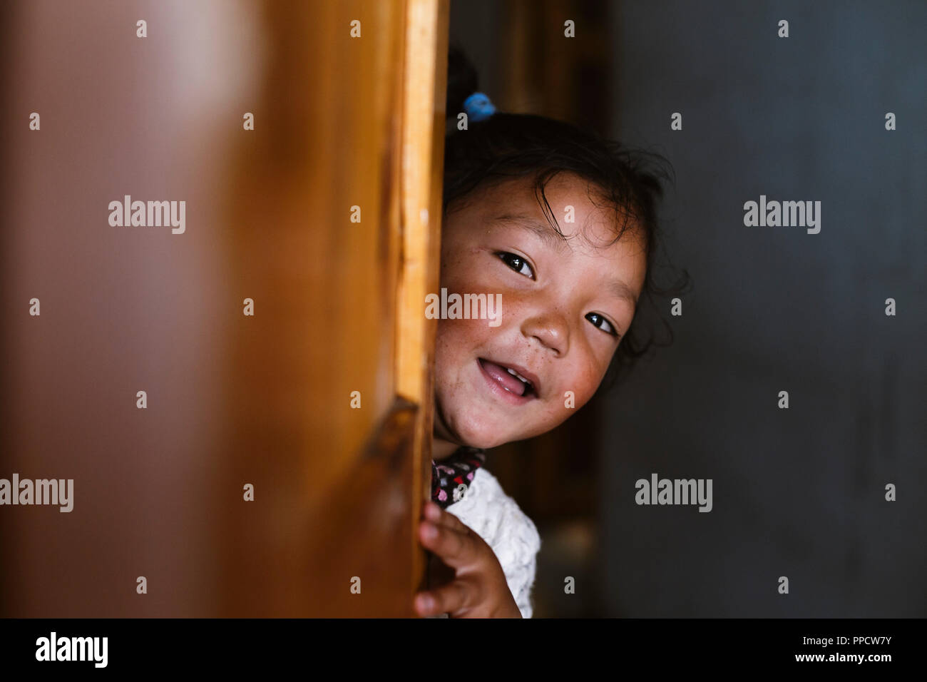 Himalayan guest houses are full of happy children, some are as curious as  they are