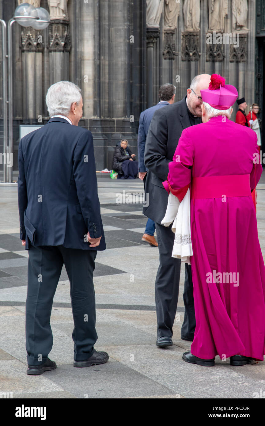 Church VIP at Cologne Cathedral, Germany - Stock Image