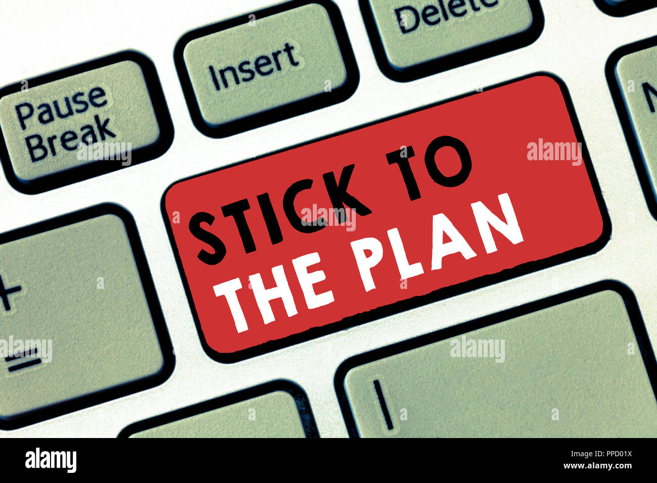 Conceptual hand writing showing Stick To The Plan. Business photo ...
