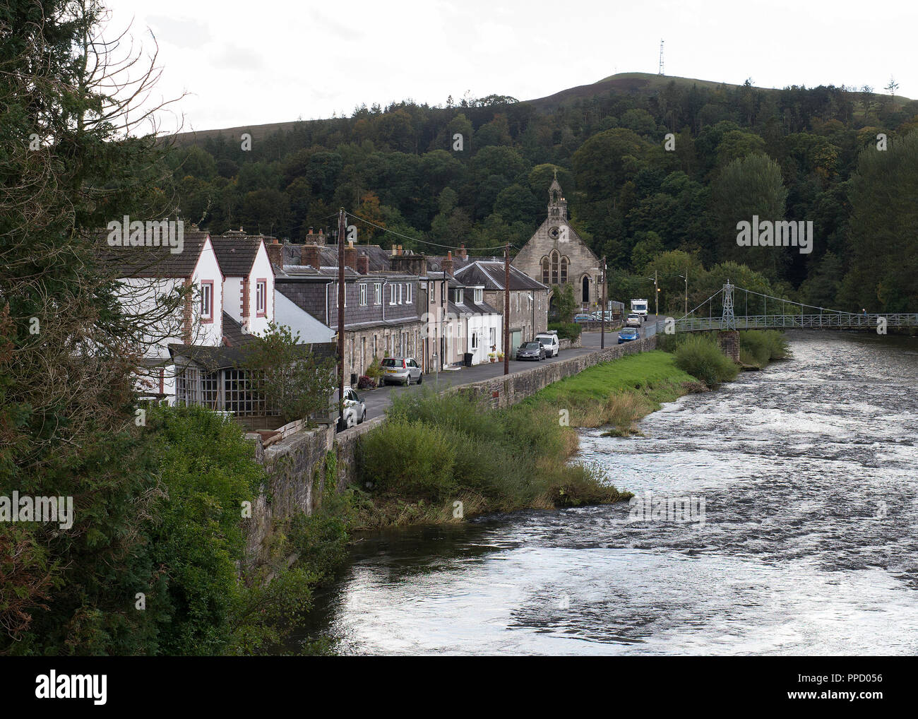 The town of Langholm where the local community are growing chillis as a community. Stock Photo