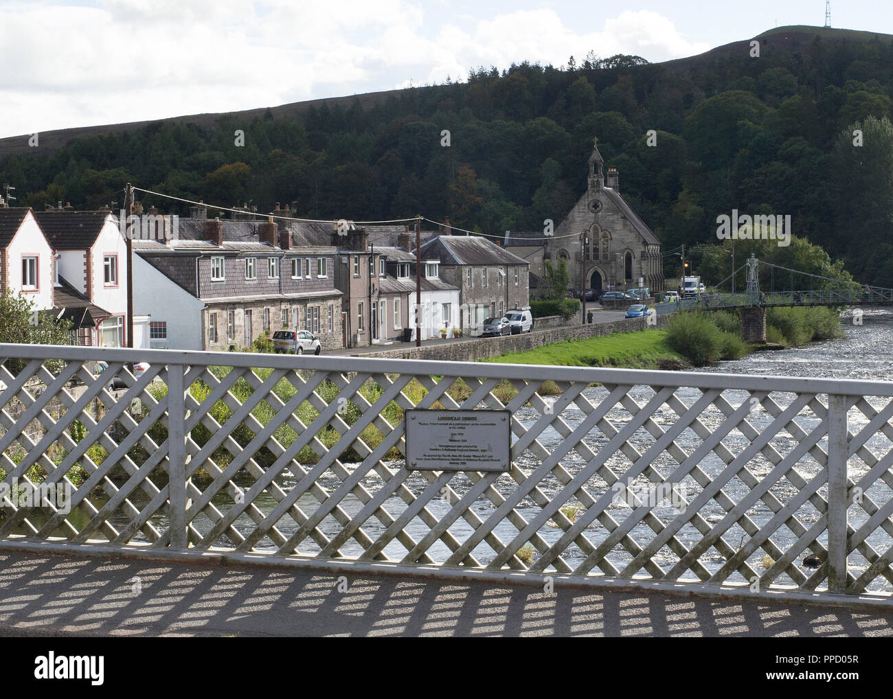 The town of Langholm where the local community are growing chillis as a community. - Stock Image