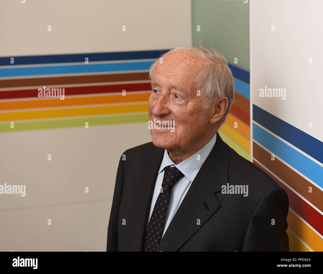 Eberhard von Kuenheim, Honorary Chairman of the Board of Trustees of the Eberhard von Kuenheim Foundation of BMW AG, pictured in the corridors of the foundation. - Stock Image