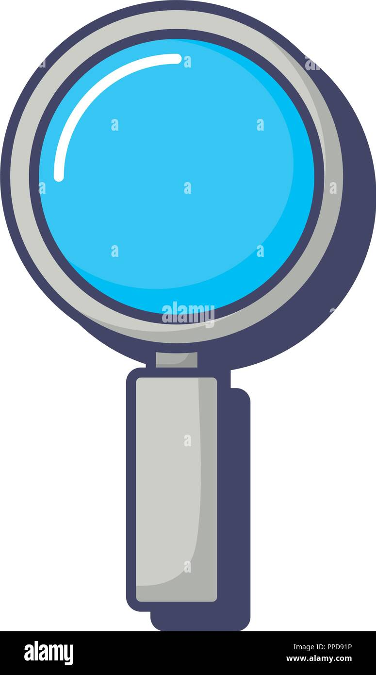 magnifying glass search discovery find innovation vector illustration - Stock Vector