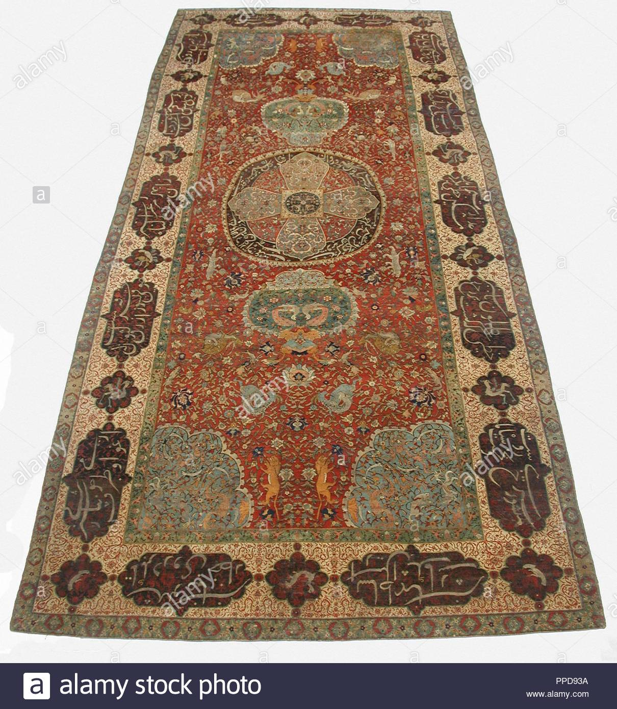 Carpet 16th Century Attributed To Iran Silk Warp And Weft Wool