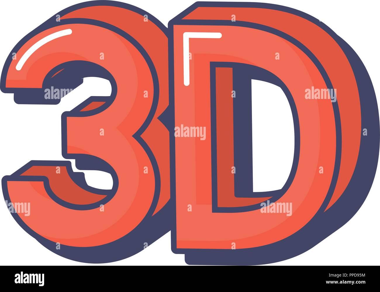 3d virtual digital technology innovation vector illustration - Stock Image