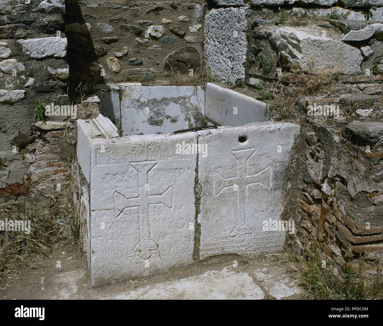Crosses Sculpted In A Slab Of The Roman City Of Sardis It Was