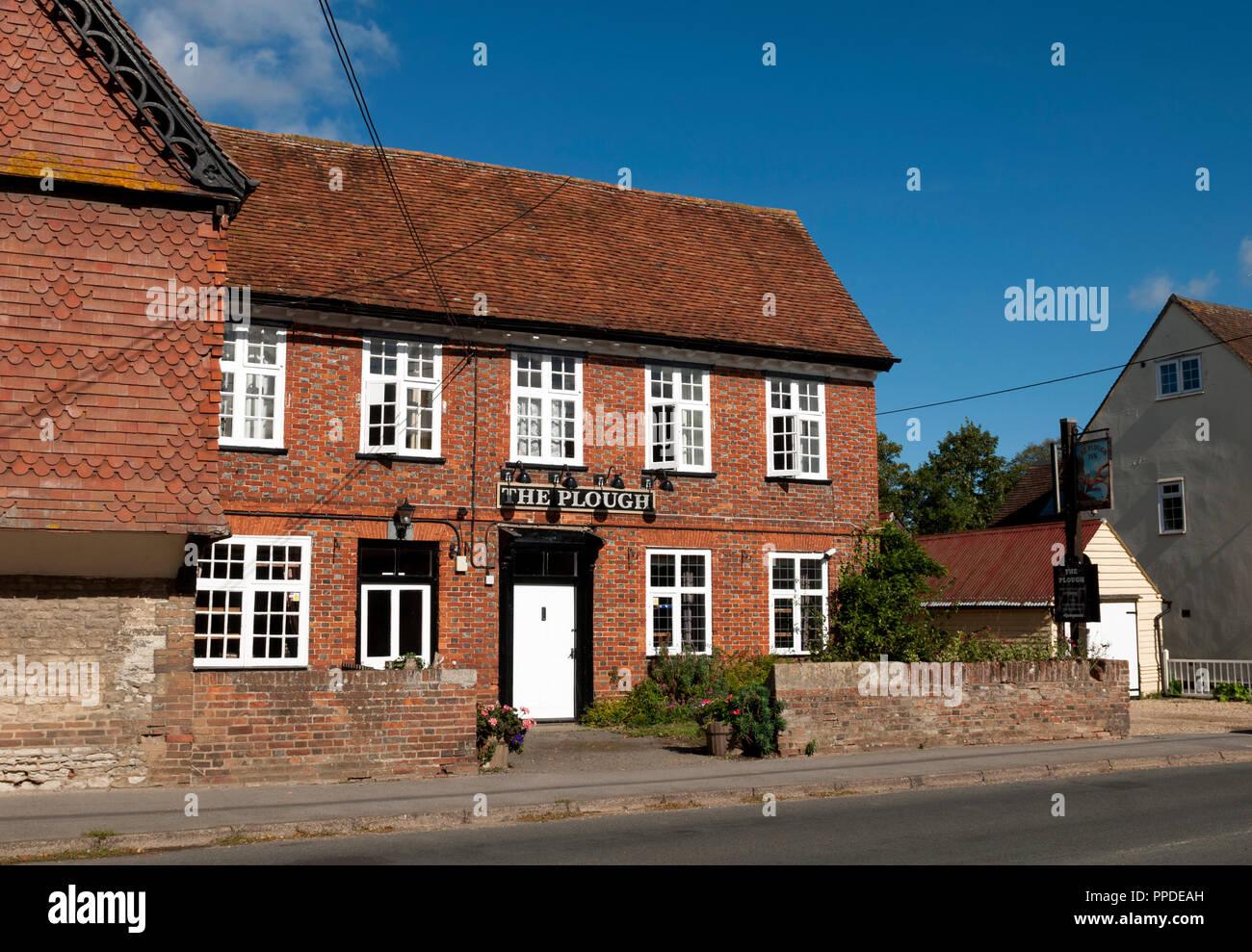 The Plough pub, Long Wittenham, Oxfordshire, England, UK - Stock Image
