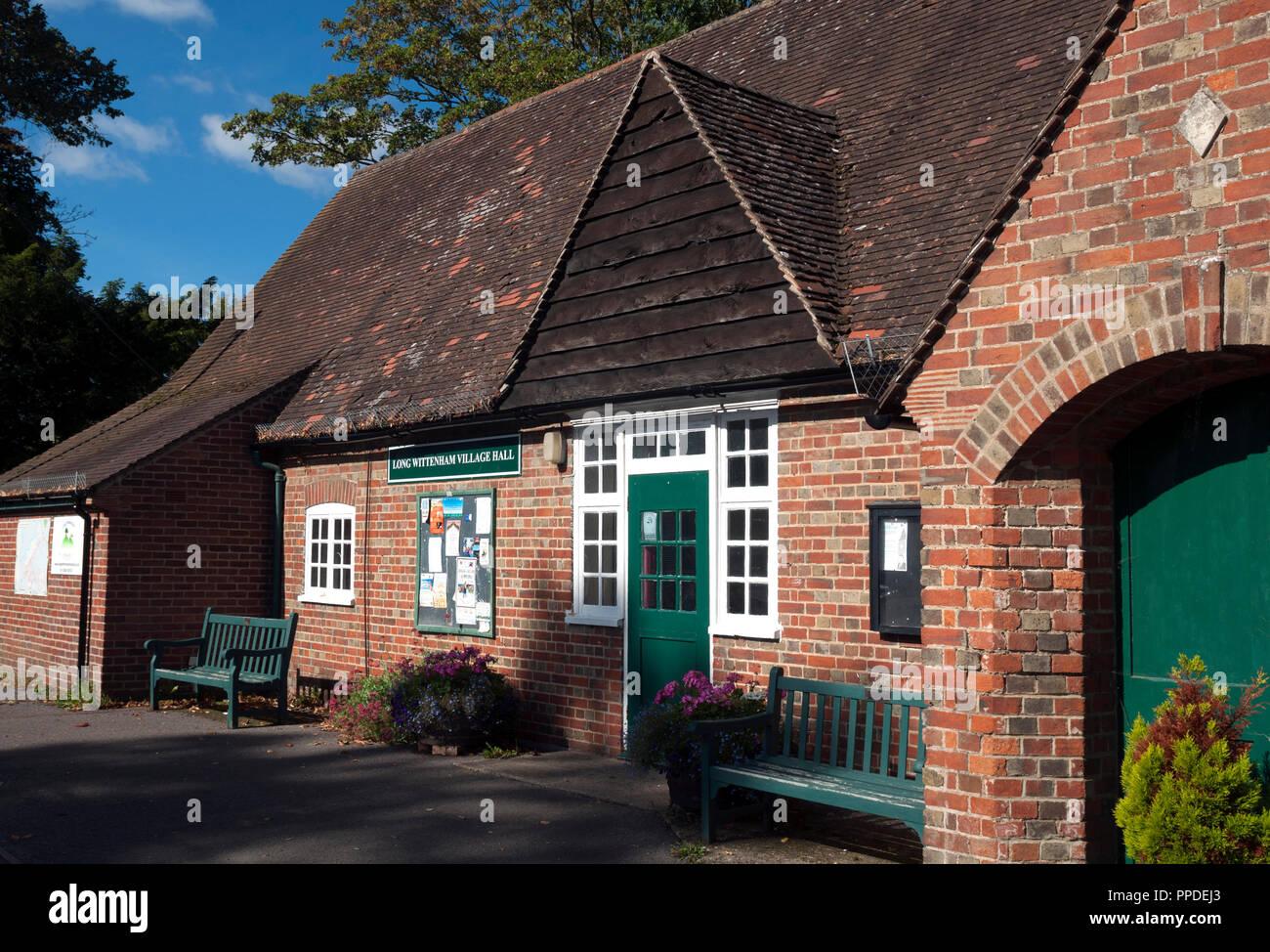 The Village Hall, Long Wittenham, Oxfordshire, England, UK - Stock Image