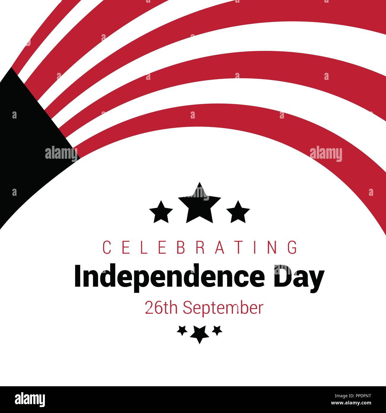 Yemen Independence day design card vector Stock Vector