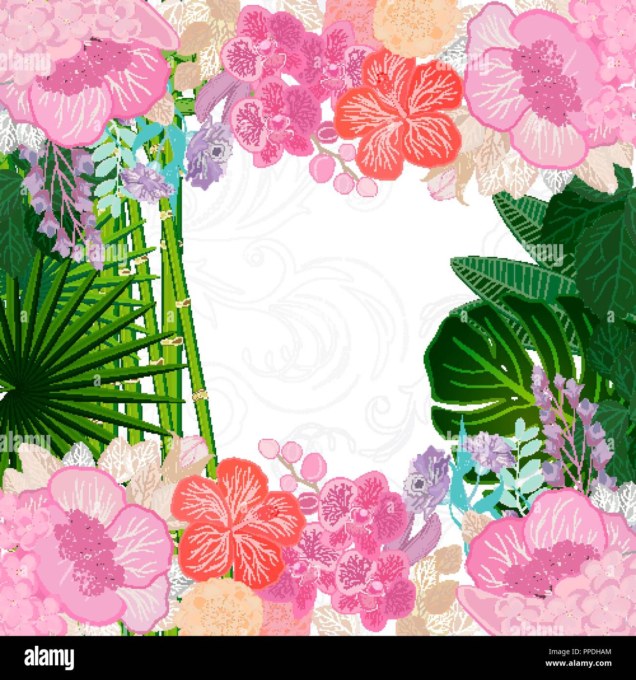 Watercolor Colors Flower Background Spring Nature Design