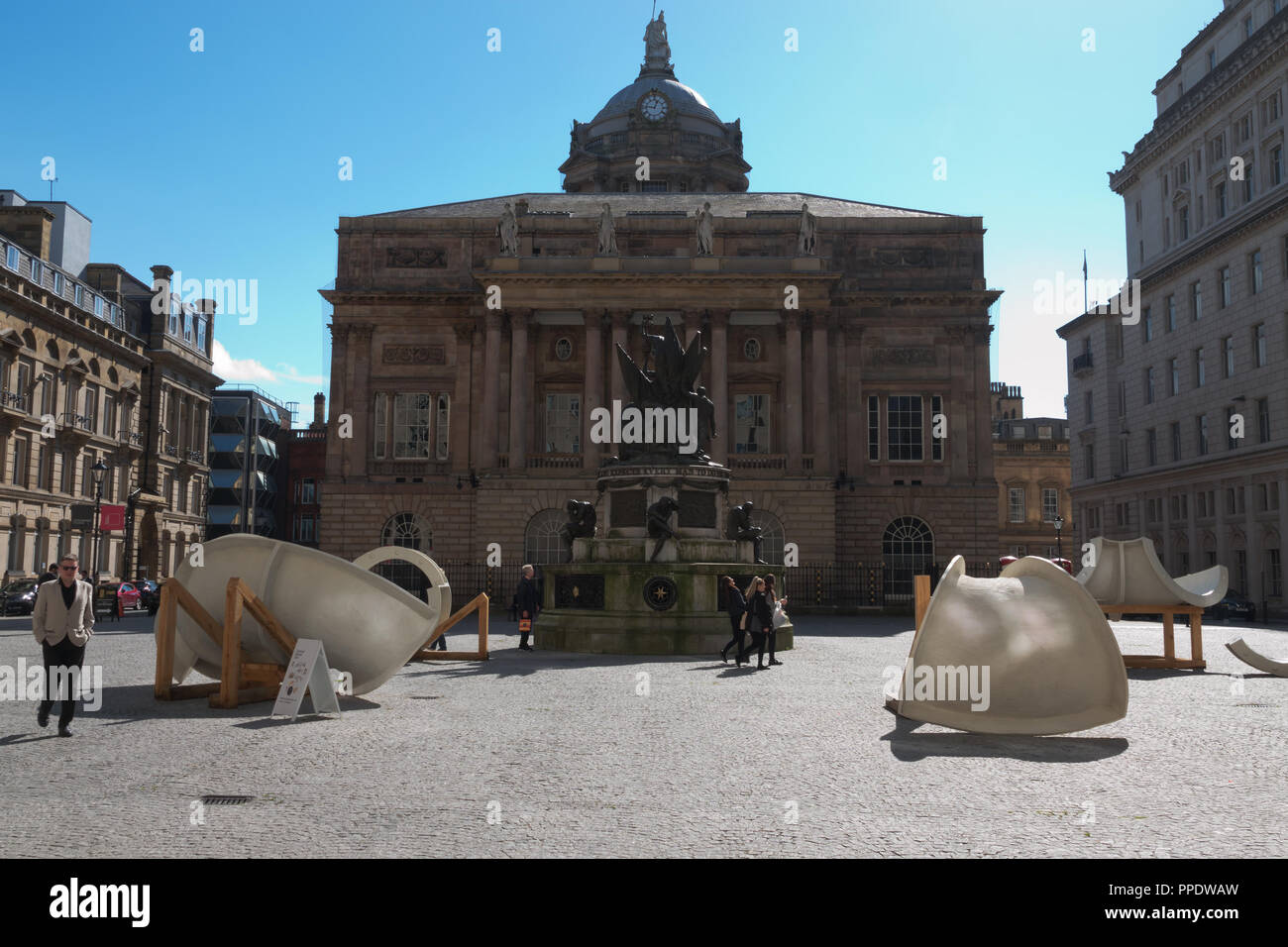 Rear view of Liverpool Town Hall, Liverpool UK. - Stock Image
