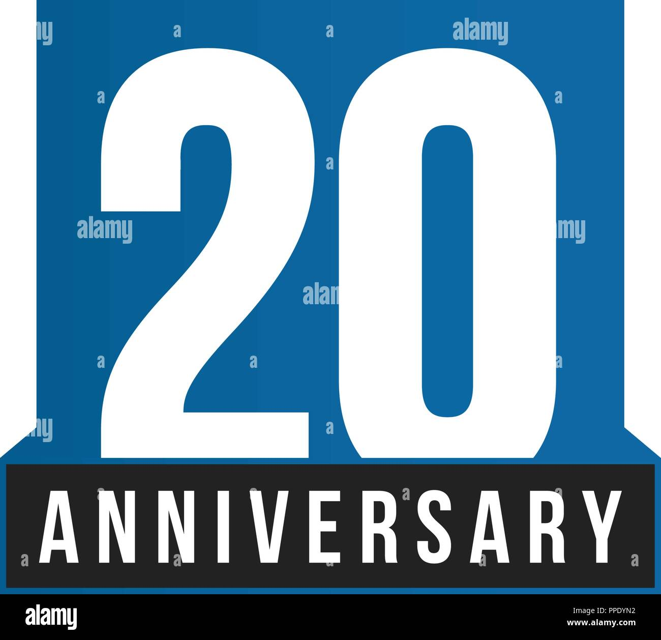 20th anniversary vector icon birthday logo template greeting card