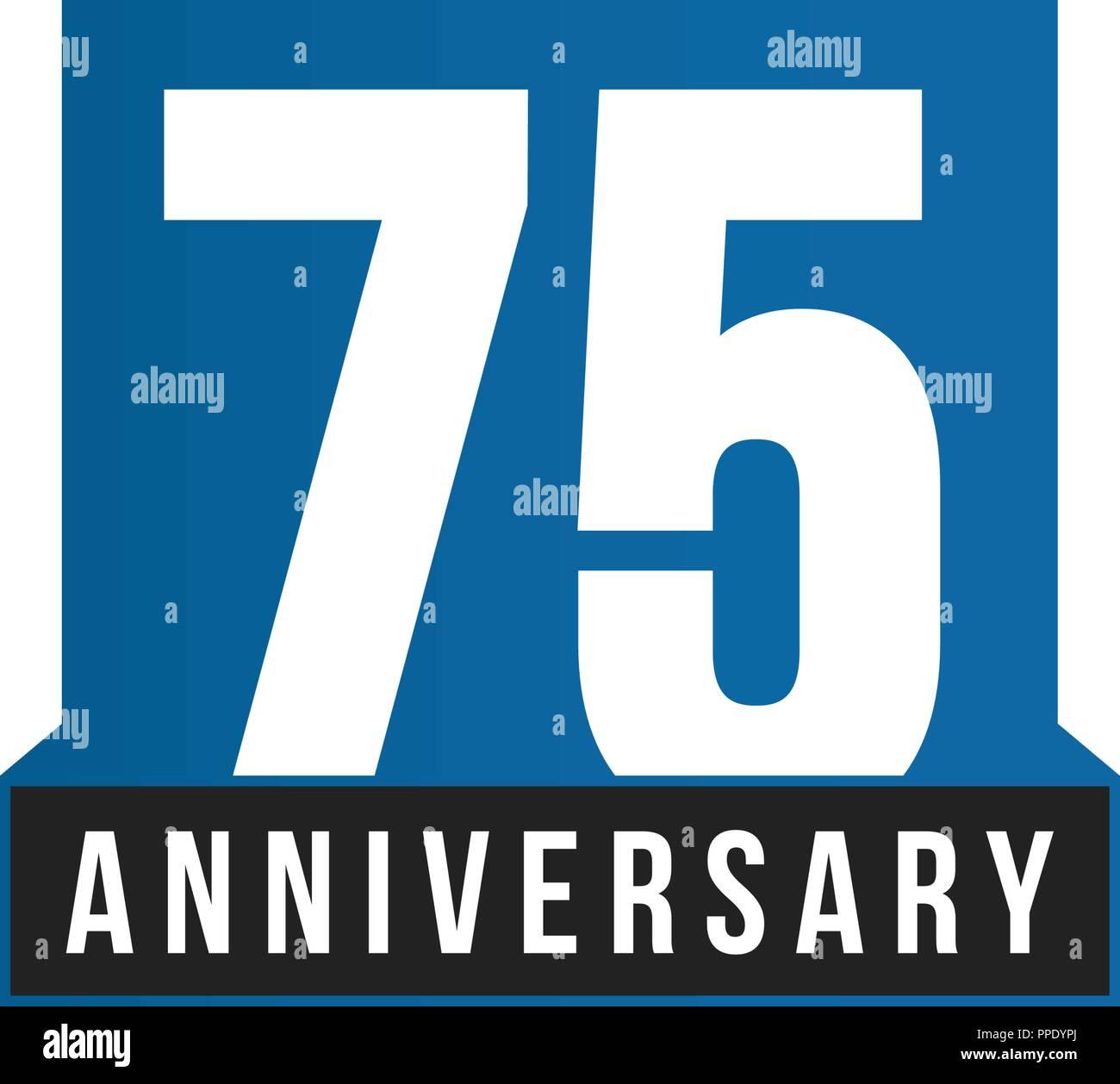 Happy Birthday 75th Birthday High Resolution Stock