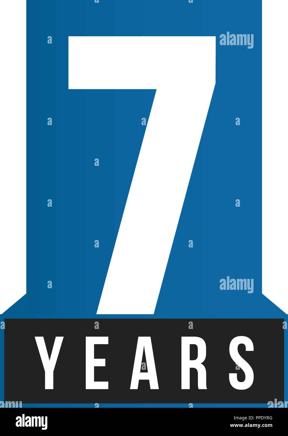 7 years anniversary vector icon birthday logo template greeting