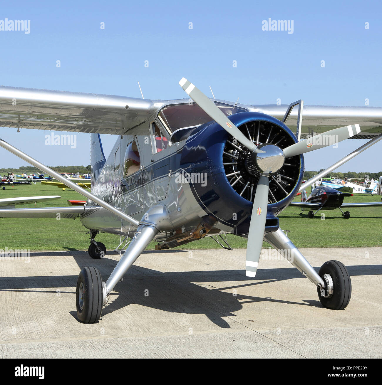 The de Havilland Canada DHC 2 Beaver at the LAA Rally at Sywell - Stock Image