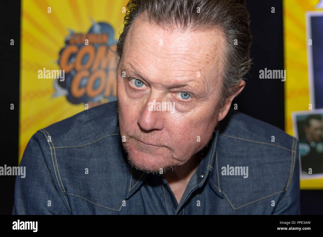 FRANKFURT, GERMANY - MAY 6th 2018: Robert Patrick (*1958, actor, The X-Files, Terminator 2) at German Comic Con Frankfurt, a two day fan convention - Stock Image