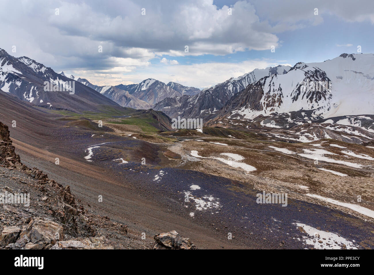 The incredible Heights of Alay Trek in Southwest Kyrgyzstan that takes in 4 3000+ meter passes. - Stock Image