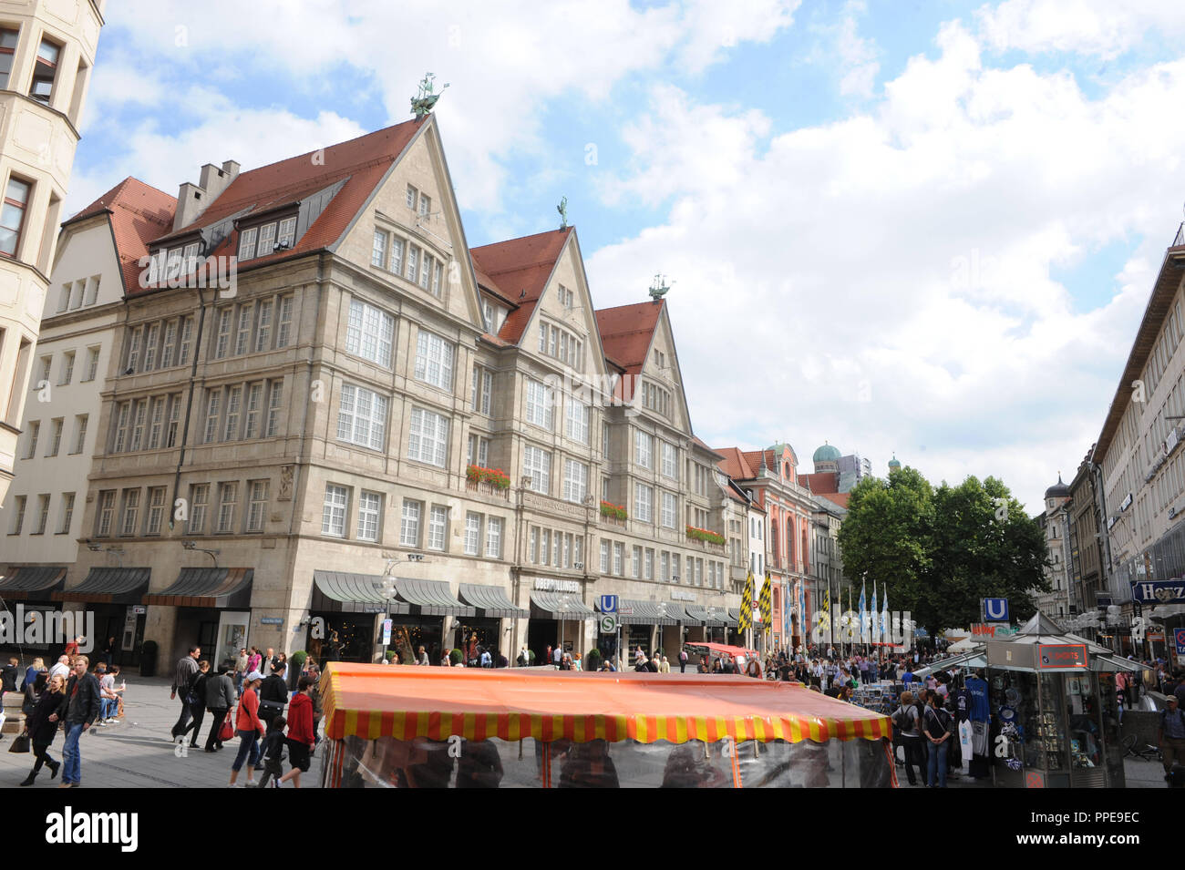 2b52679aaed87f Facade of the Karstadt Oberpollinger in the pedestrian zone in the center  of Munich. -