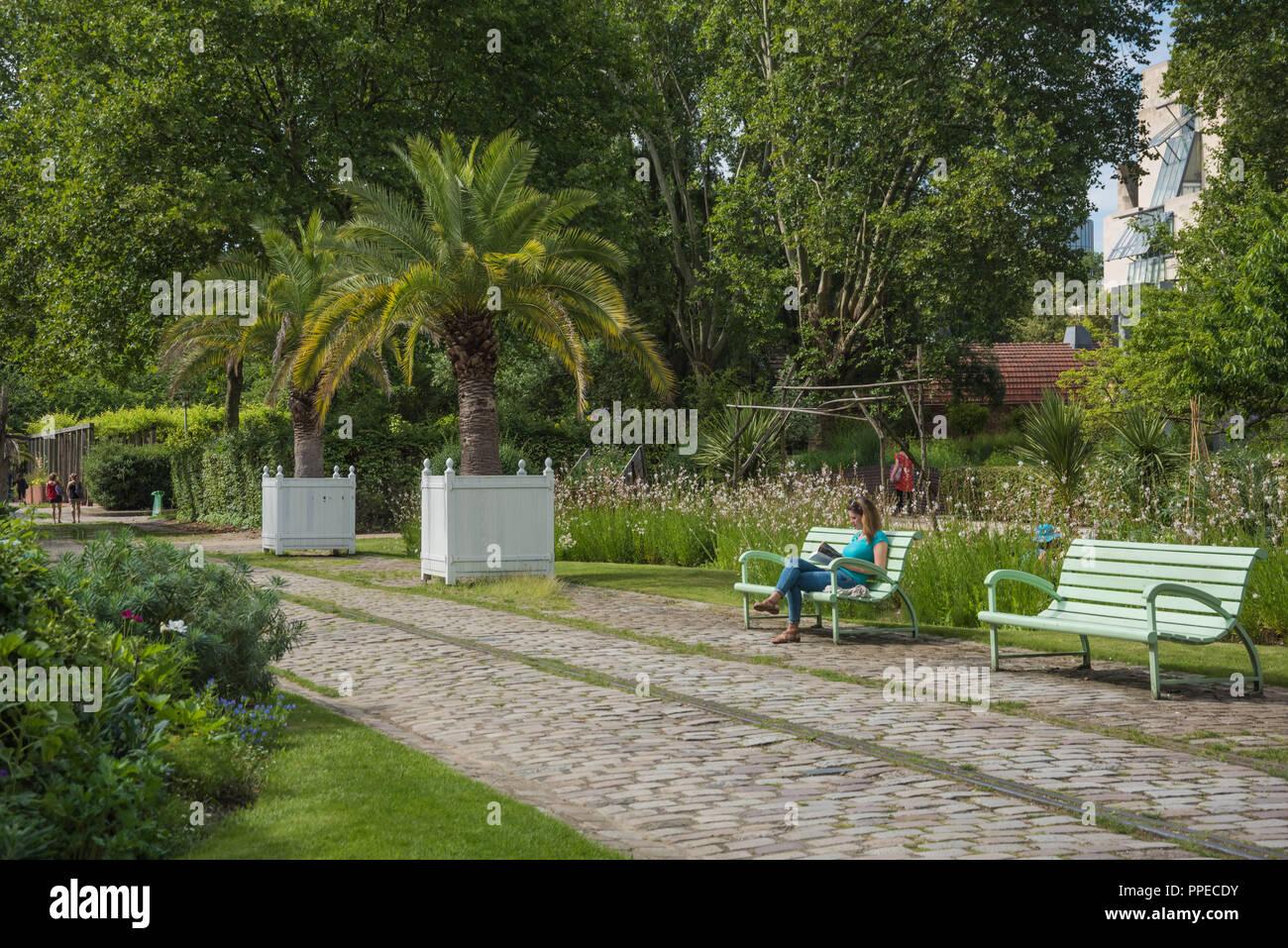 Paris, Park von Bercy - Paris, Parc de Bercy - Stock Image