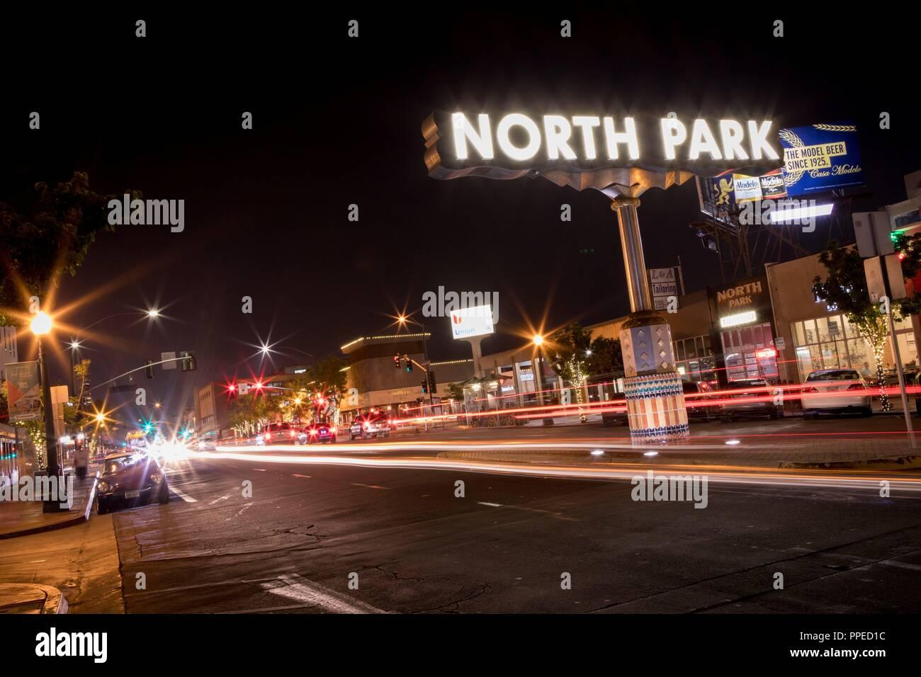 North Park Sign San Diego Stock Photos & North Park Sign San